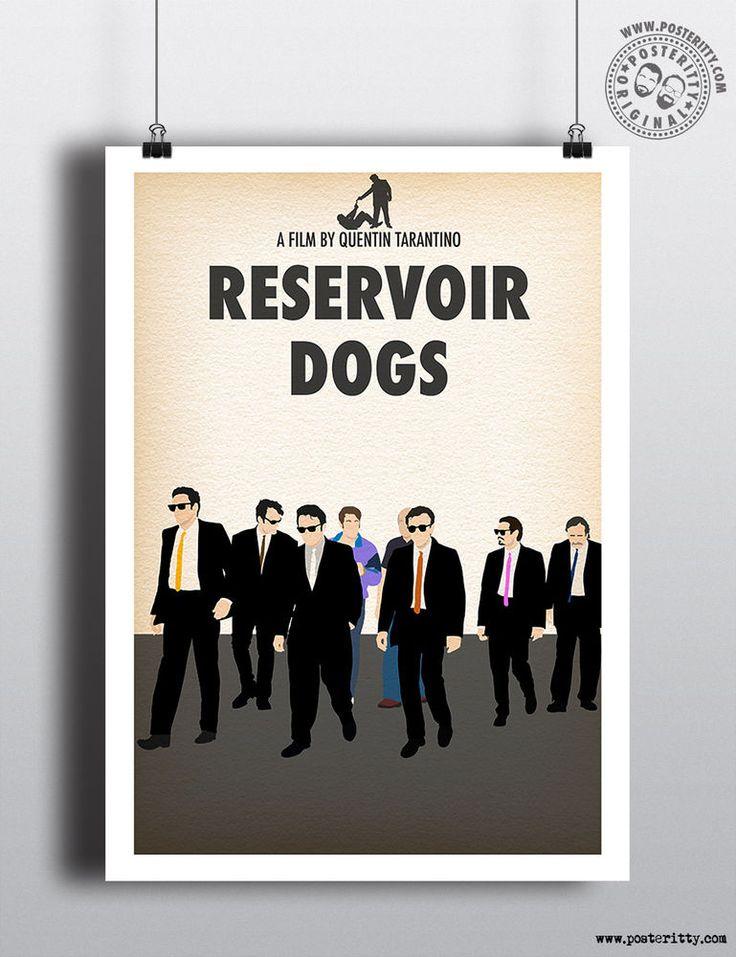 RESERVOIR DOGS - Minimalist Tarantino Movie Poster, Minimal Film Posteritty Art in Art, Posters, Contemporary (1980-Now)   eBay!