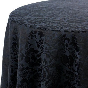 black damask linen