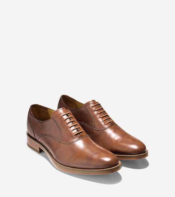 Mens Madison Plain Oxfords in British Tan | Cole Haan Outlet