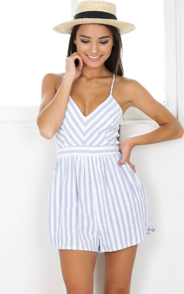 Darling striped playsuit
