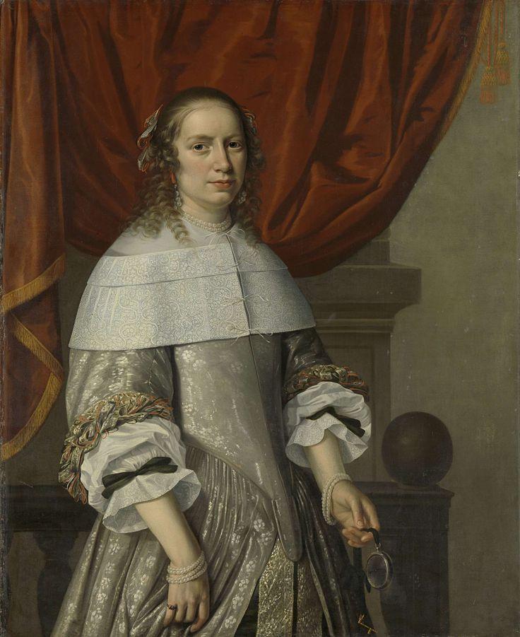 Portrait of a Woman, attributed to Hendrick Cornelisz. van Vliet, 1663