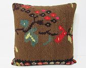 24x24 fancy kilim pillow floral throw pillow floral decorative pillow modern cushion cover bohemian cushion cover modern pillow case 24372