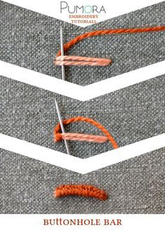 Pumora's embroidery stitch-lexicon: the buttonhole bar