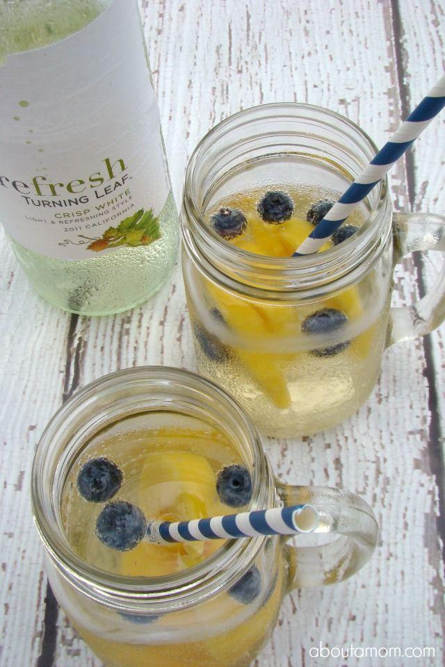 White Wine Spritzer with Peach