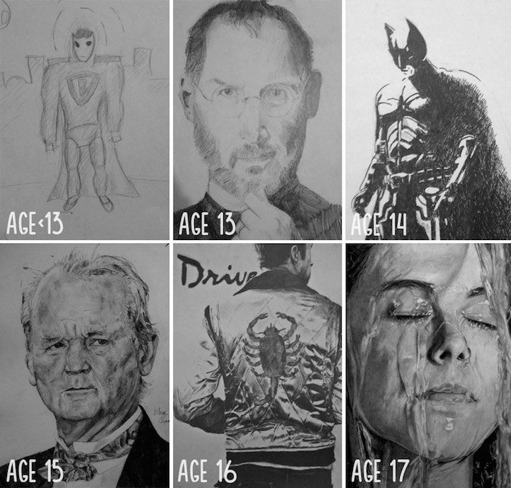 "Artists Share ""Before and After"" Evolution of Their Drawing Skills with Years of Practice - My Modern Met"