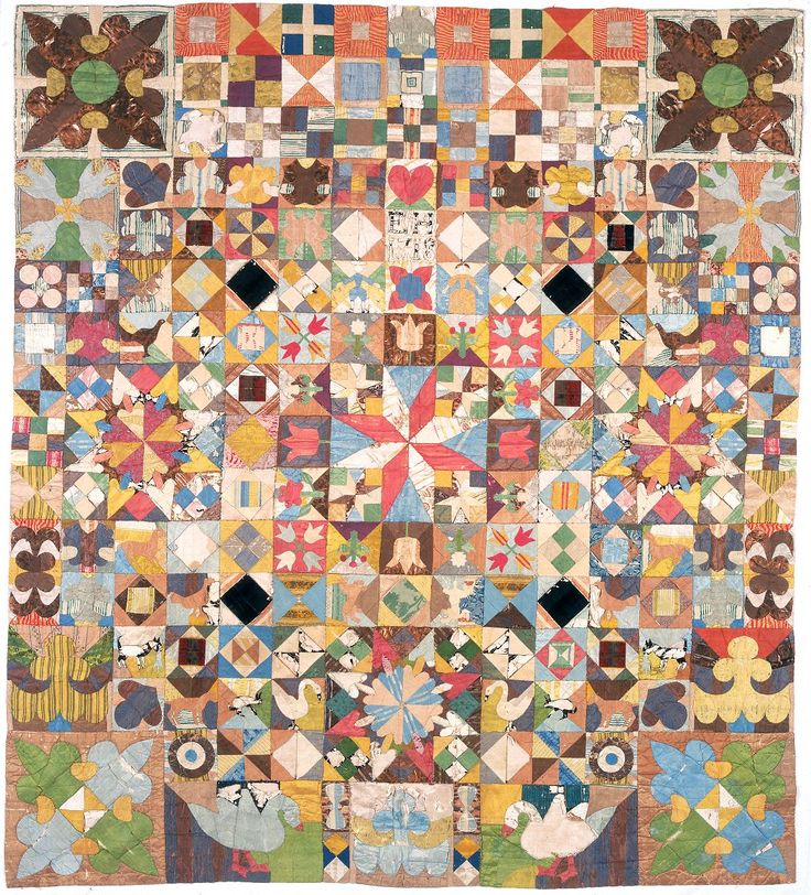 The 1718 Silk Patchwork Coverlet, the oldest dated quilt in ...