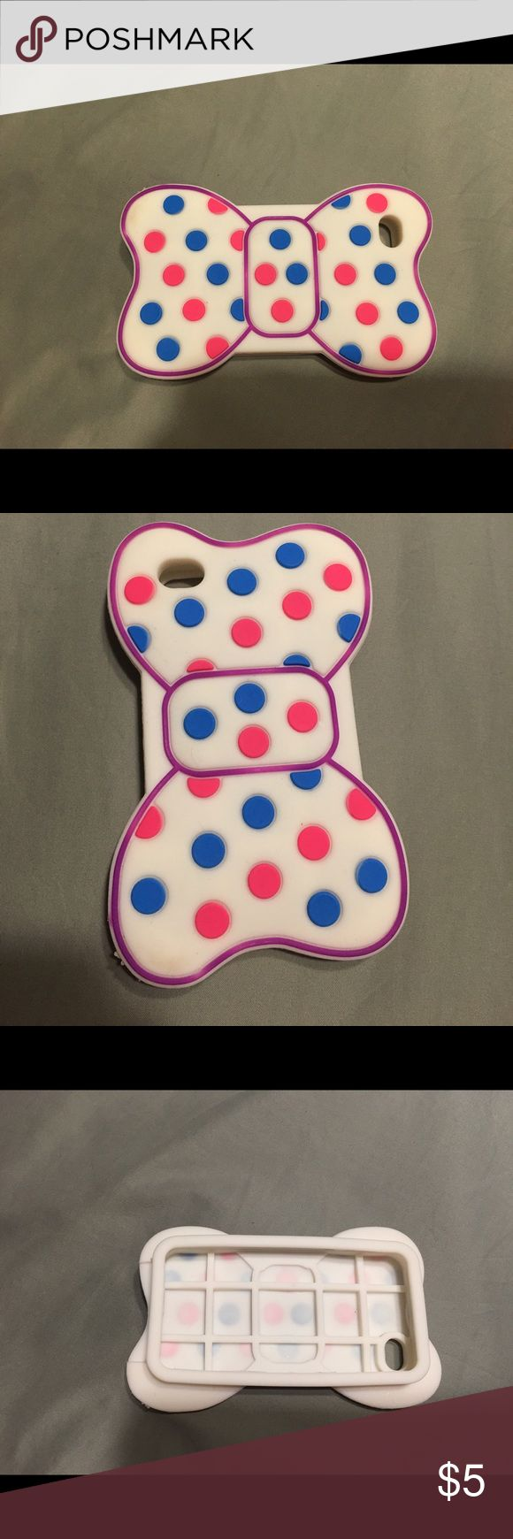 iPhone 4 bow case Cute silicone bow case for iPhone 4 Accessories Phone Cases