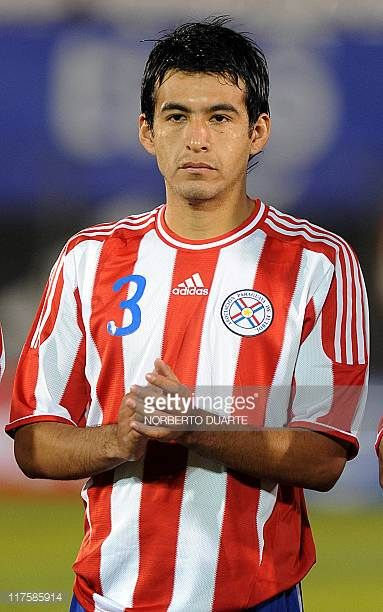 Paraguay's national football team player Luis Cardozo before their friendly match against Rumania in Asuncion on June 11 2011 AFP PHOTO/Norberto...