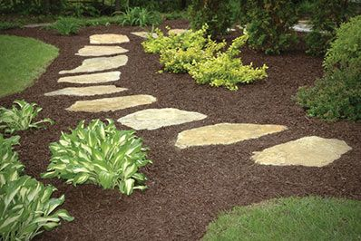 The Stone Store has red, black and natural mulch in stock. Buy it bagged or bulk.