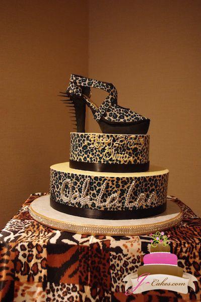 Print Images On Cake : Leopard Print Fashionista Birthday Cake Leopard Print ...