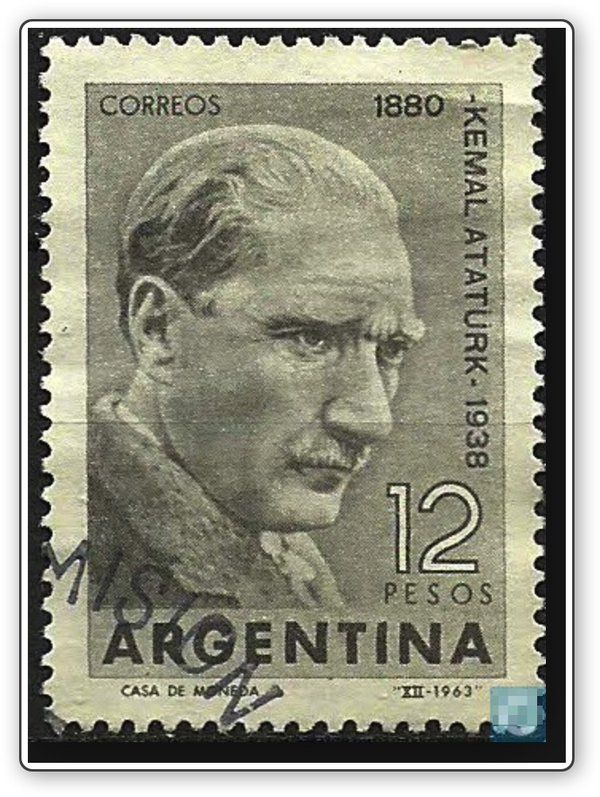 #stamps for #Atatürk  from Argentina