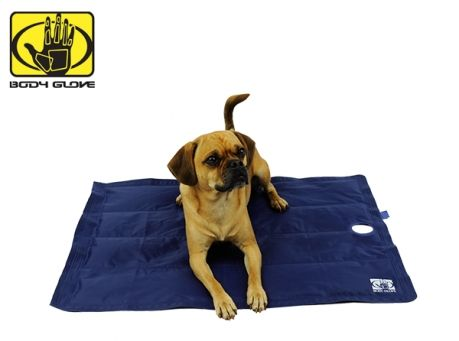 Body Glove Pet Cooling Mat- Body Glove Pet Cooling Mat is a pressure activated mat. Recommended for dogs with heat exhaustion, for those hot days after walks or any occasion where you see the need for cooling your pet. Cooling mat instantly gives your pet a cool spot to lie down. The safe and non-toxic cooling gel interior will absorb your pet's heat and will cool your pet 7-9 degrees than ambient temperature. Let your furry friend plop down on the cooling mat to relieve the heat.