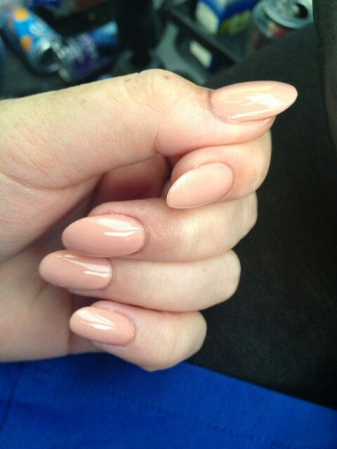 Pointed round acrylic nails