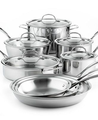 Calphalon Tri-Ply Stainless Steel 13 Piece Cookware Set - Cookware - Kitchen - Macy's 400