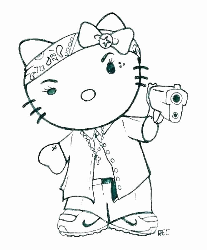 - Gangsta Rap Coloring Book Best Of Gangsta Rap Coloring Book – Kreater In  2020 Hello Kitty Colouring Pages, Hello Kitty Tattoos, Kitty Coloring