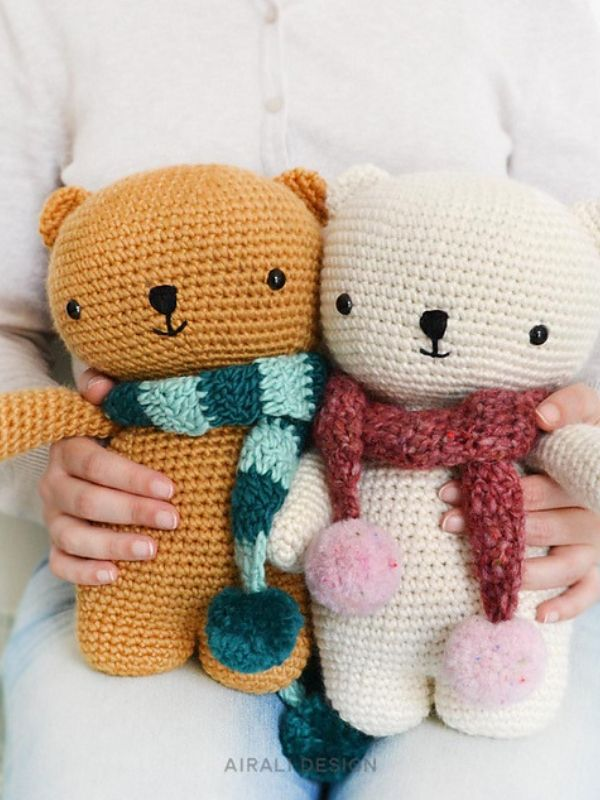 FREE Crochet Pattern for a Cute Teddy Bear | Crochet teddy bear ... | 800x600