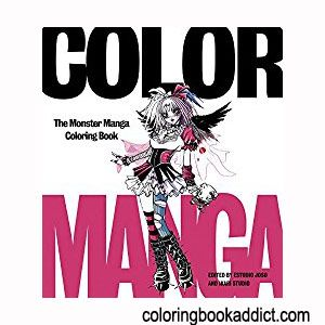 Top Anime Manga Kawaii Coloring Books For Adults Teens And Tweens Coloringbookaddict