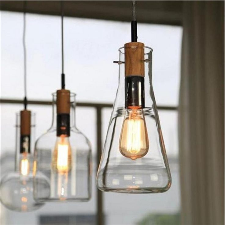 Modern Loft American Retro Buffet Restaurant Lights Sitting Room Individuality Creative Glass Pendant Lamp Free Shipping