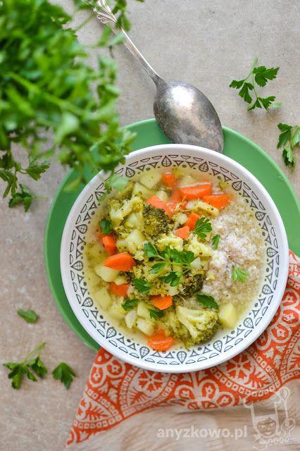 Zupa brokułowa z kaszą