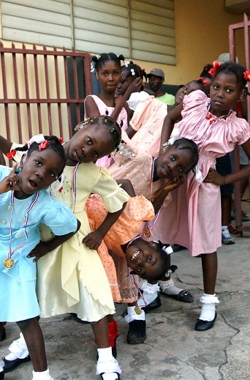 A group of girls from Port Au Prince on our Haiti mission.