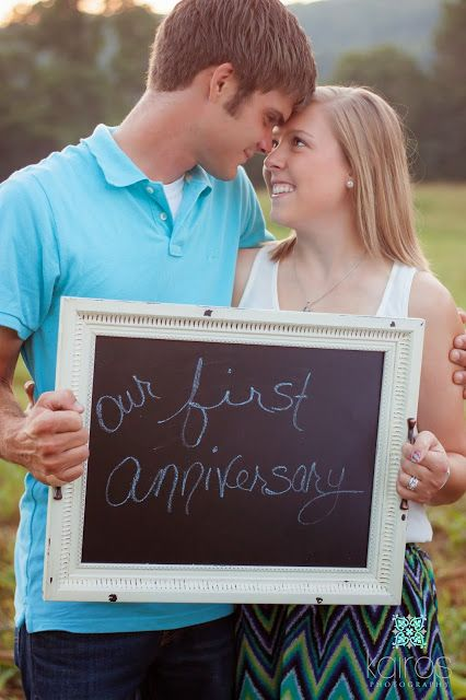 1st anniversary photo session, first anniversary, country couple photos, outdoor couples photography, chalboard prop // Kairos Photography: Springfield, MO Couples Photography