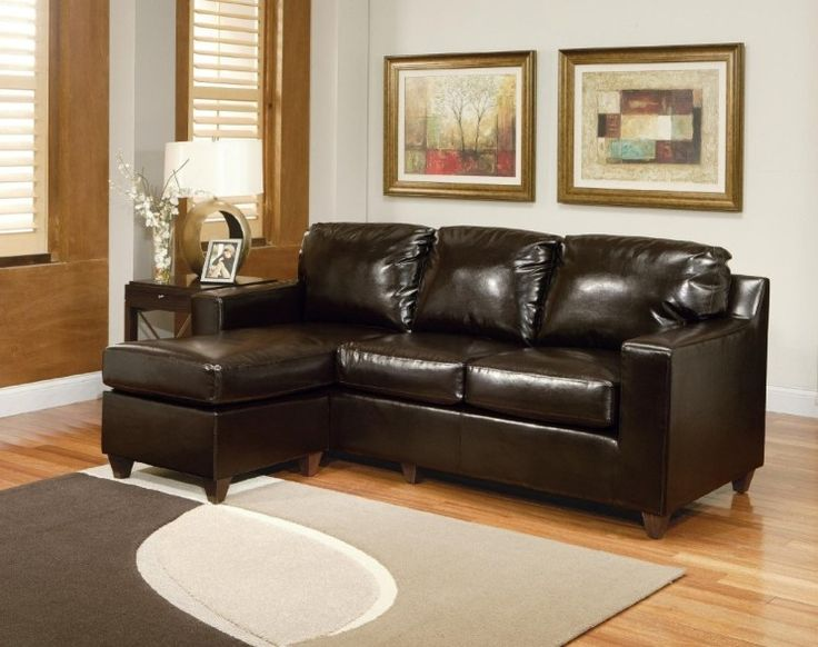 unique small sectional leather sofa feat cool table lamp living room also wooden window design awesome dressing up the living room with chic small sectional - Sectional Leather Sofas