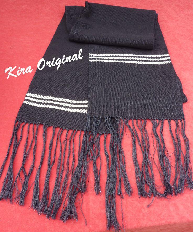 Faja para traje regional, de lino tejida a mano en telar manual.