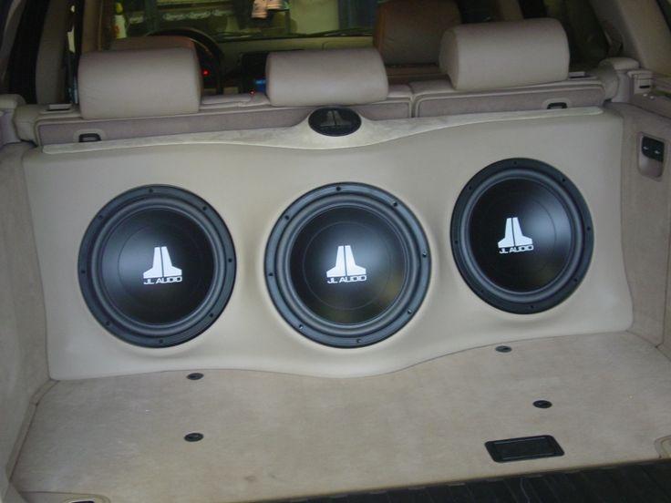 BMW X5 2005 custom subwoofer enclosure for three JL Audio 12w3
