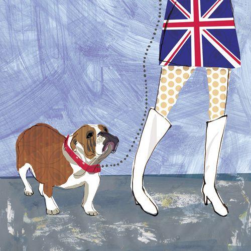 British Bulldog by Louise Cunningham #IWD #femaleartist #contemporaryart
