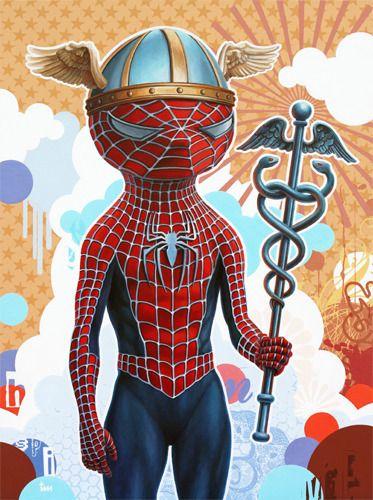 "The Dream Factory | ""Spiderman x Hermes""  www.dreamfactoryart.com  #spidermanxhermes #spiderman #hermes #comic #limitededitionprint #timmaclean  #americanicons #show #art #kunst #popart #modernekunst #thedreamfactory #dreamfactoryart #bockenheim #frankfurt #germany"