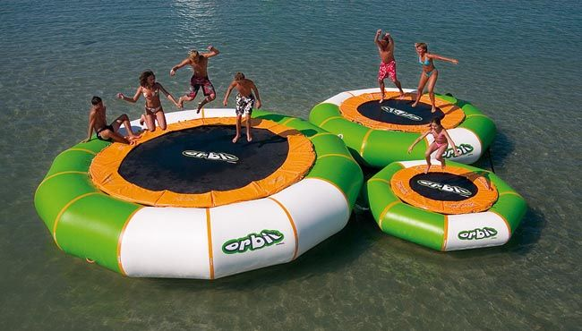 So want one of these to play on! Aviva Orbit Water Trampoline