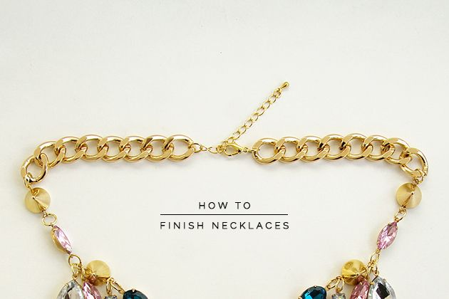 Bookmarked: How to finish necklaces professionally.