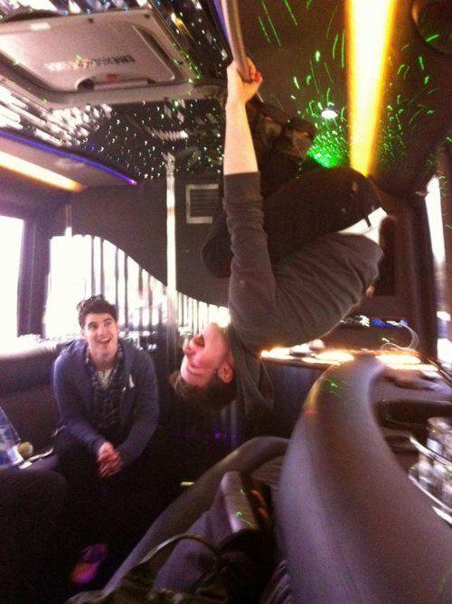 glee live tour bus! #darrencriss #chriscolfer