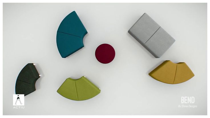 Bend by Actiu. Soft seating that can transform and adapt to any space #Actiu #softseating #modular #furniture #offices