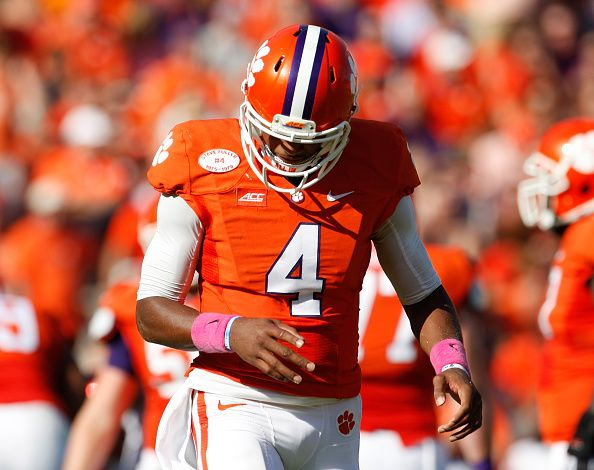 College Football: Clemson Quarterback Deshaun Watson to Miss One Month Due to Finger Injury http://www.hngn.com/articles/45635/20141013/college-football-clemson-quarterback-deshaun-watson-to-miss-one-month-due-to-finger-injury.htm