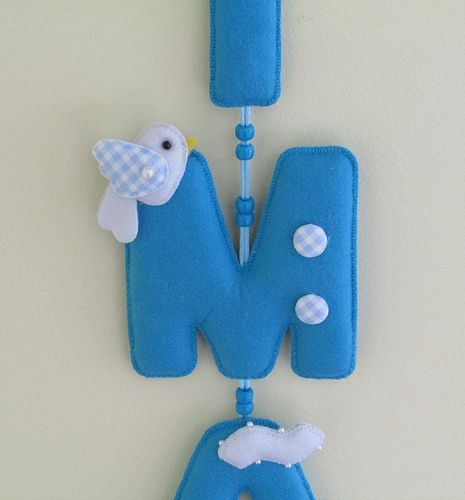 Felt name banner for nursery/ child room decoration Wall art decoration