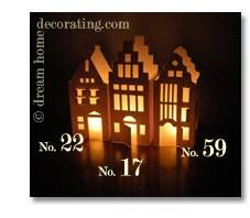 white christmas paper houses to make