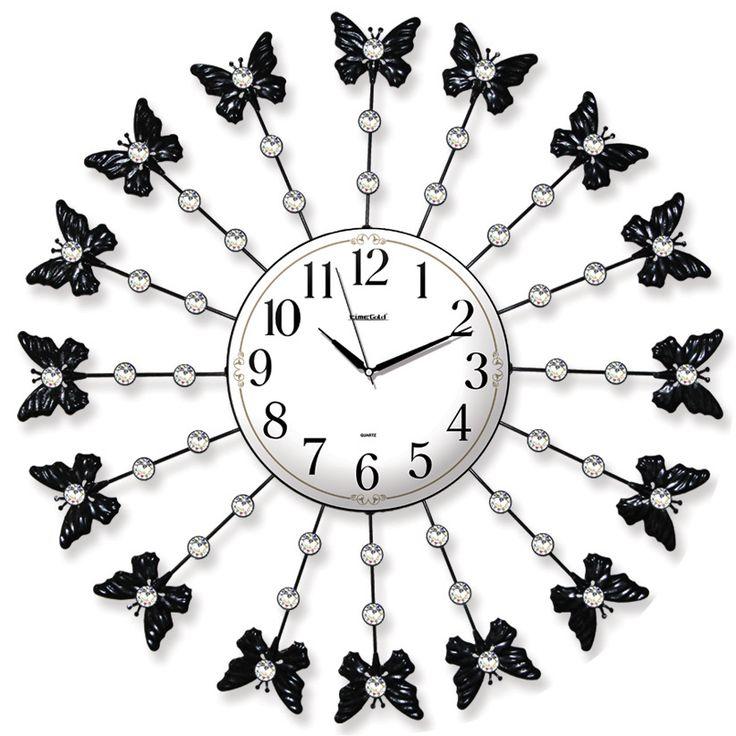 Taşlı Ferforje Kelebekli Duvar Saati  Ürün Bilgisi ;  Ürün maddesi : Metal gövde, gerçek cam Ebat : 62 cm  Mekanizması : Akar saniye, sessiz çalışır Garanti : Saat motoru 5 yıl garantili Taşlı Ferforje Kelebekli Duvar Saati Üretim  : Yerli üretim Kullanım ömrü uzundur Kalem pil ile çalışmakta Ürün fotoğrafta görüldüğü gibi olup orjinal paketindedir Sevdiklerinize hediye olarak gönderebilirsiniz