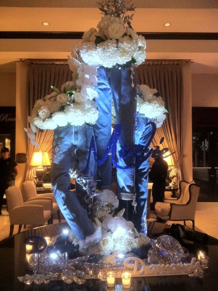 Denim centerpiece