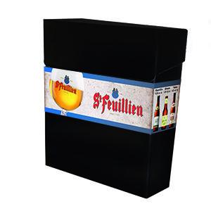 St Feuillien Proeverijdoos Stijlvolle geschenkdoos met een proeverij van 3 verschillende St. Feuillien bieren.  – St Feuillien Blond 33cl – St Feuillien Brune 33cl – St Feuillien Saison 33cl  www.multicadeau.nl