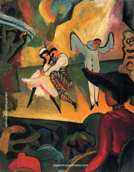 August Macke Russisches Ballett (I), 1912 painting for sale outlet online, painting