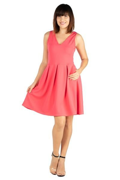 84fc6ad1b81f ... Comfortable Women's Clothing. Women's Fit and Flare Dress With Pockets  Fit and Flare Dress This fit and flare dress is a must have for any closet.