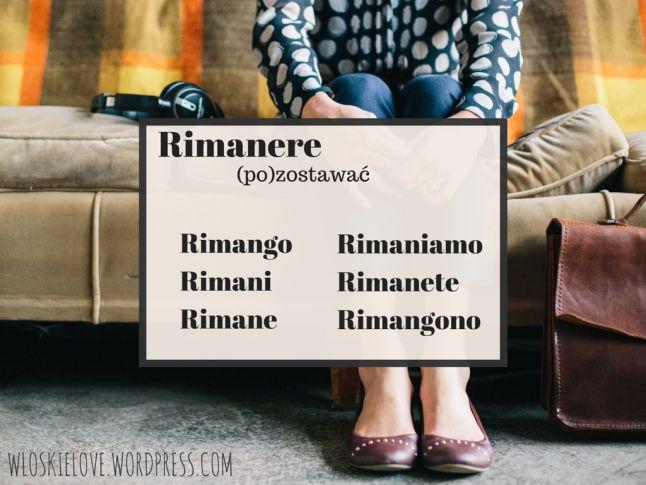 Kolejne czasowniki nieregularne: graficznie i z komentarzem | Włoskie love