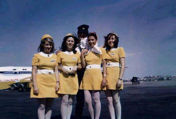 Olympic Airways Ground Hostess uniform,designer Pierre Cardin 1969-1971