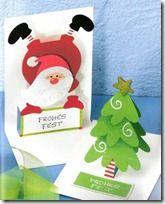 Manualidades, tarjetas navidad con platillas (shared via SlingPic)