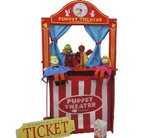Teatro com relógio. www.alugarparabrincar.com