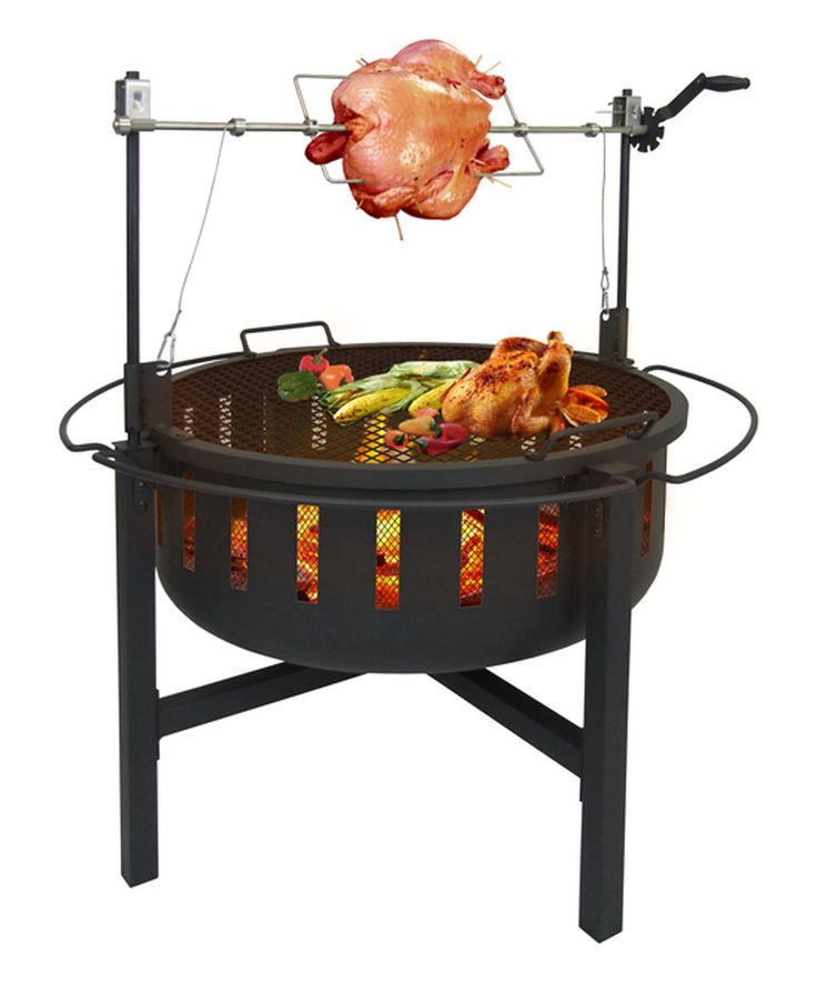 This Fire Rock Fire Pit, Rotisserie & Grill by Landmann is perfect! #zulilyfinds