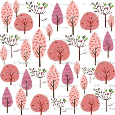 Pink Forest @Spoonflower