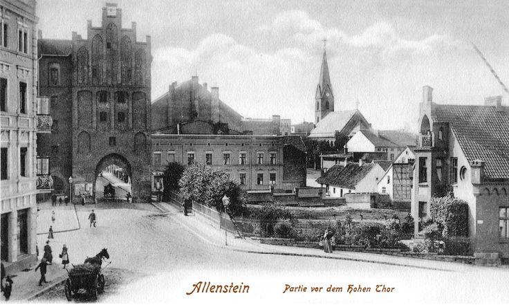 Allenstein / Ostpreußen, Partie vor dem hohen Tor