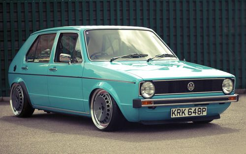 VW Golf Mk1- I know one close by that I can picture looking like this.